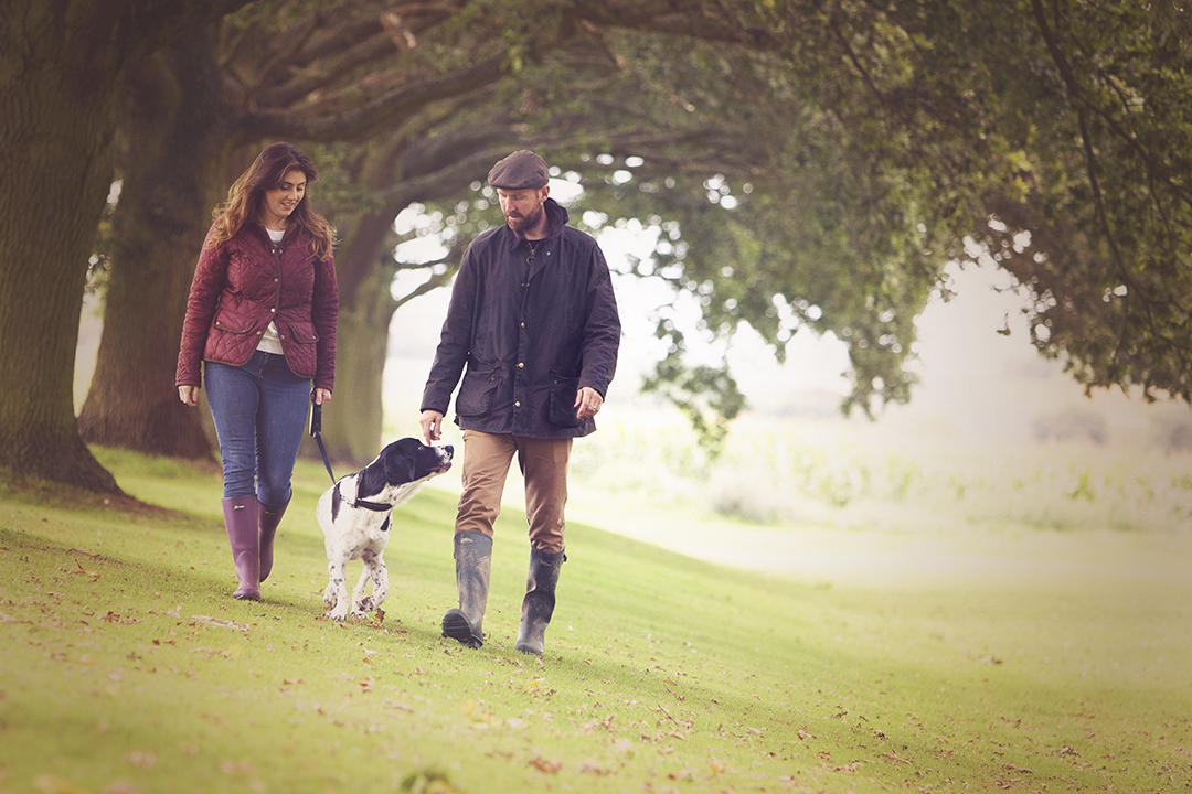 Family and pet dog photography